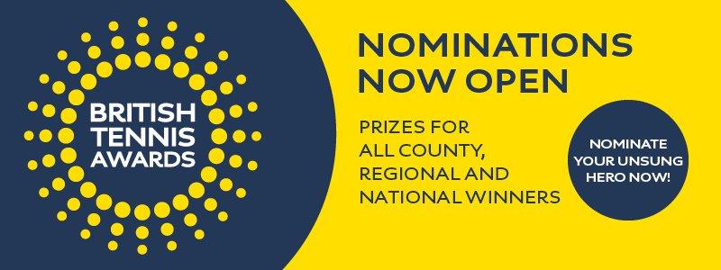 Nominations For British Tennis Awards